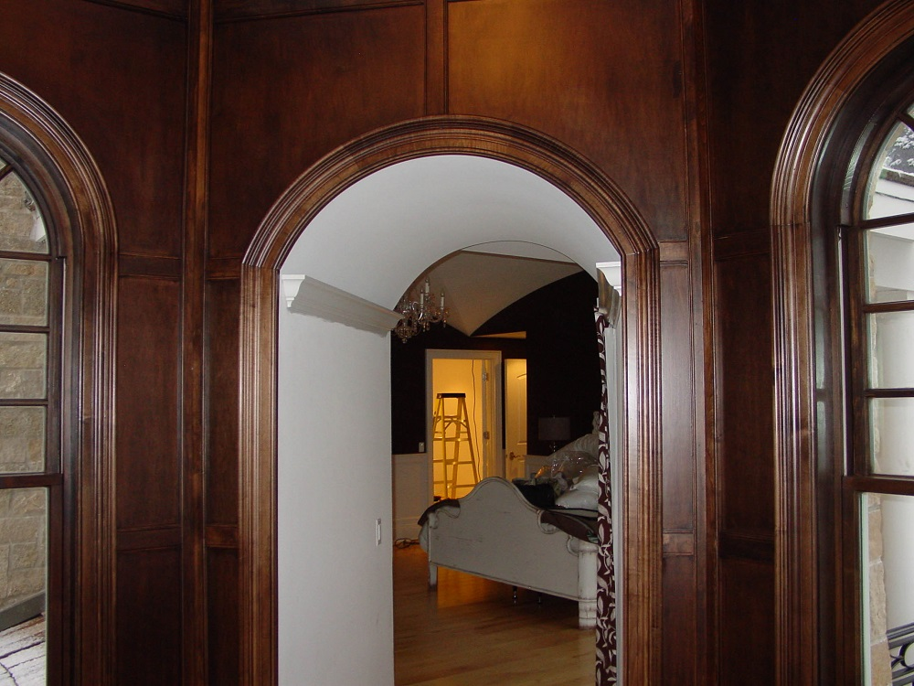 Interior arched doorways elipticon wood products inc for Interior arch